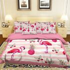 3D Flamingo Pattern 5 Bed Pillowcases Quilt Duvet Cover Set Single Queen King AU