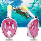 Adult Kid Full Face Snorkel Mask Surface Diving Swimming Tool Scuba For Gopro