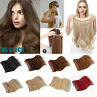 Внешний вид - US STOCK 100% 100g/pcs Remy Hidden Halo Invisible Wire Weft Human Hair Extension