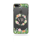 PERSONALISED INITIALS FLOWER PHONE CASE CLEAR HARD COVER FOR XIAOMI MI MIX2/MAX2