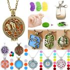 New Aromatherapy Perfume Essential Oil Diffuser Locket Pendant Necklace+1-7 Pads