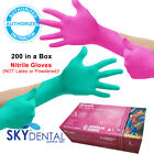 200/Box TopQuality NITRILE Latex Free Hypoallergenic Medical Gloves PINK / GREEN