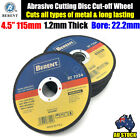 "4.5"" 115mm Cutting Disc Thin Angle Grinder Cut Off Wheel Metal Steel Flap BT7224"