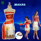 Disney Moana Classic Mädchenkostüm Deluxe Kleid Cosplay Costume Girls Women 2018