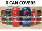 6 VARIETY CAN COVERS PACK HIDE A BEER  SODA WRAP CAMO POP TAILGATE GOLF SLEEVES