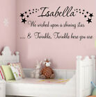 PERSONALISED NAME WALL ART STICKER QUOTE NEWBORN GIFT NURSERY HOME DECOR