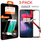 3X For OnePlus 6 5T/5 Full Coverage 9H 3D Tempered Glass Film Screen Protector