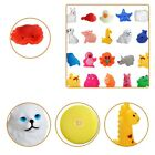 12 PCS Rubber Squeak Animal Bath Toys Swimming Water for Baby Bath