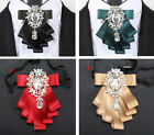 Bridegroom Bow-Knot Bowtie Cravat Wedding Party Crystal Bow Tie Host Necktie