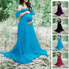 Women Long Maxi Maternity Dress Gown Pregnant Photography Prop OFF SHOULDER SEXY