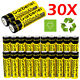 30x Garberiel 18650 BRC 5000mAh 3.7V Li-ion Lithium HighDrain Battery Flashlight