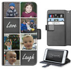 PERSONALISED PHOTO PHONE CASE CUSTOM LEATHER FLIP CASE COVER FOR HUAWEI P10/P20