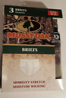 Mossy Oak Mobility Stretch Briefs or Boxer Briefs 3 Pack Choose Size Color
