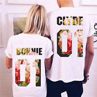 Short Sleeve Couple T-Shirt Bonnie & Clyde Love Matching Shirts Couple Tee Tops image
