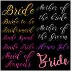 DIY T-Shirt Iron on Glitter Transfers for Wedding Bridal Hen Night party