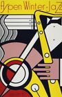 Roy Lichtenstein Oil Painting on Canvas Pop art Aspen Winter Jazz 28x36""