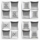Set of 4 Silver Cushion Covers Metallic & Crushed Velvet Cover Collections