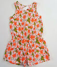 Внешний вид - NWT Gap Kids Girls Size XS 4-5 Orange Daisy Flower Knit Shorts Romper 4t 5t