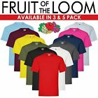 BIG SIZE 5 PACK FRUIT OF THE LOOM  PLAIN BLACK T SHIRT  3XL TO 5XL UNISEX BARGAI