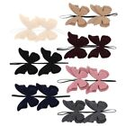 Внешний вид - Cute Baby Headband w/Two Fur Butterflies Toddler Little Childs Headbands
