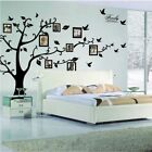 Tree Leaves Flowers Decor Removable Wall Stickers Bedroom Door Window Art Decal
