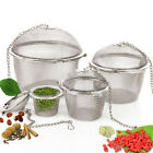 CO_ Practical Tea Ball Spice Strainer Mesh Infuser Filter Stainless Steel Herbal
