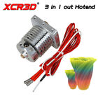 XCR3D 3D Printer Parts 3 in 1 out Hotend Colour Mixture 12/24V Heater 0.4/1.75mm
