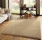 Small - Extra Large Thick Shaggy Shag Pile Light Golden Beige Sand Rug.Overstock