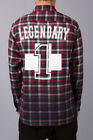 Pink Dolphin NO. 1 FLANNEL Plaid Gradient RED Shirt SOLD OUT ON LINE  Sz. M