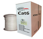 Cat6 Plenum 1000ft CMP Cable UTP 550MHZ  RED - WHITE - GRAY - YELLOW