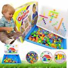 Children Kids Puzzle Peg Board 296 Pegs Early Educational Toys Creative Mosaic B