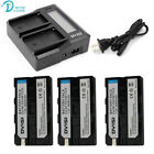 Ultra Fast 3X faster Dual Charger with 2600mAh NP-F550 NP-F530 NP-F570 Battery