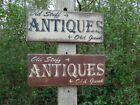 Antiques Old Stuff and Old Junk Primitive Wood Sign Distressed Antique Sign