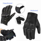 MENS KNUCKLE PROTECTIVE VENTED MOTORBIKE MOTORCYCLE LEATHER GLOVES SUMMER WINTER