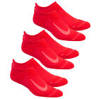 3pk Nike Dri Fit Cushioned Running Socks Walking Cycling Hiking Fitness No Show