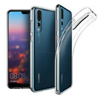 New Ultra Thin Clear Silicone Transparent Slim Gel Case Cover For Huawei Phones