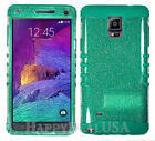 For Samsung Galaxy Note 4 - KoolKase Hybrid Silicone Cover Case - Glitter Clear