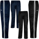 Mens New Mens Silky Tracksuit Jog  Bottoms  Casual Joggers Gym Jogging track ...