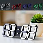 Large Digital 3D LED Table Desk Wall Modern Clock Alarm 24/12H Display USB Gift