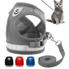 Cat Walking Jacket Harness Leash Adjustable Small Dog Vest for Pets Puppy Kitten