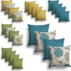 Set of 4 Orla Cushion Covers Reversible Floral Cushion Cover Collections