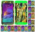 For Samsung Galaxy Note 4 - KoolKase Hybrid Silicone Cover Case CAMO MOSSY 08