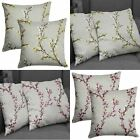 "Set of 2 Hemsworth Cushion Covers Luxury Floral Blossom Covers Pairs 17"" x 17"""