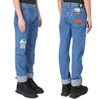 KENZO Paris Men Easy Fit Blue Jeans with Badges size 34 NEW NWT $345