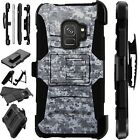 For Samsung Galaxy Phone Case Holster Stand Cover DIGITAL CAMO GRAY LuxGuard