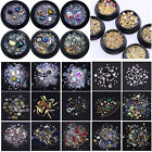 3D Nail Art Mixed Crystal Decoration Rhinestones Glitter s Box DIY Tips