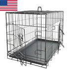 Indoor Pet Kennel Cat Dog Folding Capture Iron Wire Crate Animal Cage Suitcase