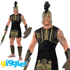 Mens Achilles Roman Gladiator Costume Greek Soldier Warrior Fancy Dress Outfit