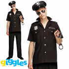 Male Sexy Cop Costume Uniform Policeman Police Man Halloween Fancy Dress Outfit