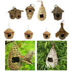 Birdhouse Bird Nest Breeding Box Wild Grass Weave Canary Finch Budgie House
